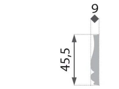 B-10 Vegglist mønster 45,5x9mm.
