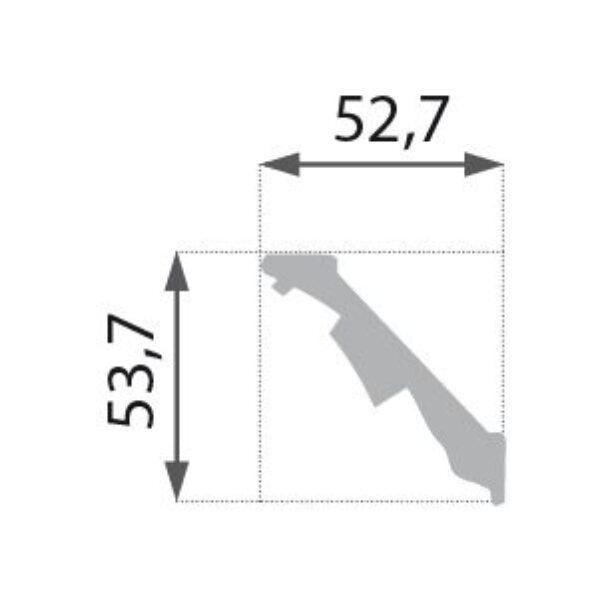 B-13 Profillist mønster 53x54mm.