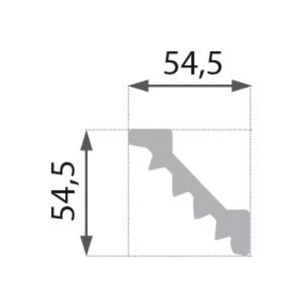 B-14 Profillist mønster 54,5x54,5mm.