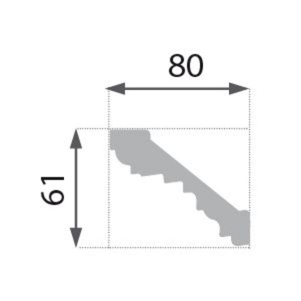 B-15 Profillist mønster 61x80mm