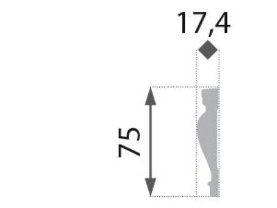 B-17 Vegglist mønster 75x17,4mm.