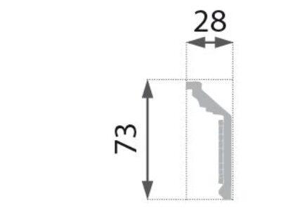 B-21 S Profillist mønster 28x73mm  Sølv