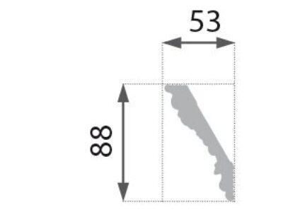 B-26 Grå Profillist mønster 53×88
