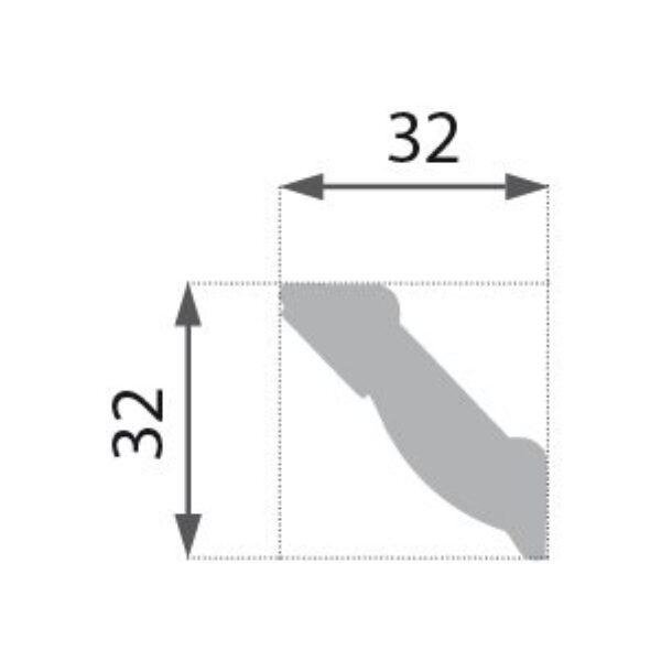 B-02 Profillist mønster 32x32mm