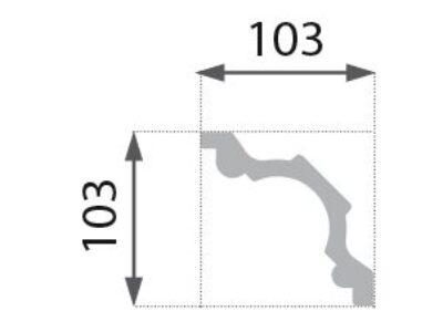 B-32 Profillist mønster 103x103mm.