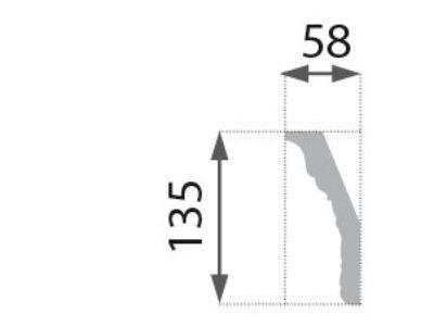 B-36 Grå Profillist mønster 58x135mm