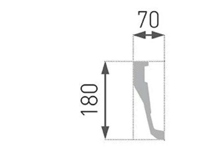 B-40 Profillist mønster 70x180mm
