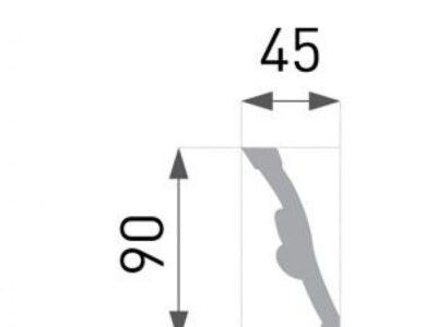 B-51 Profillist mønster 45x90mm