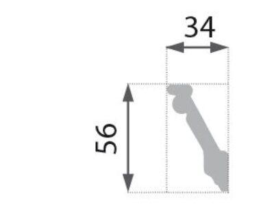 B-05 Profillist mønster 34x56mm