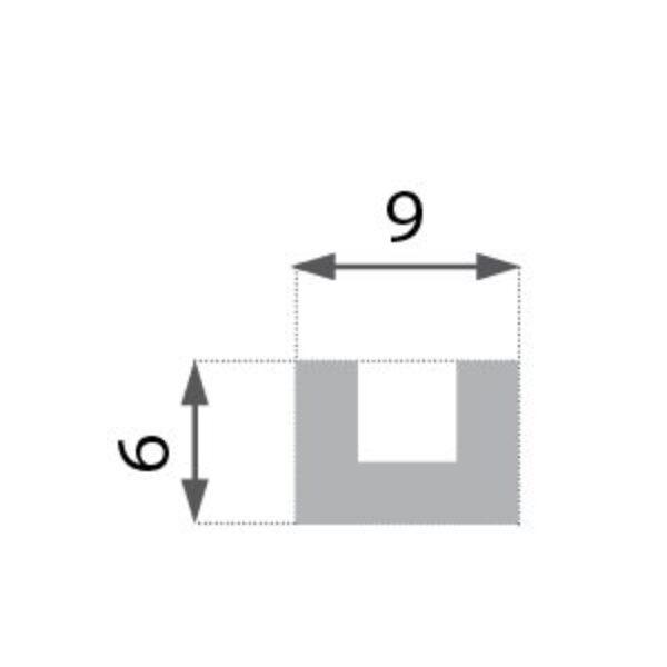 Rustikk BR-01 mørk takbjelke  (3X1meter)