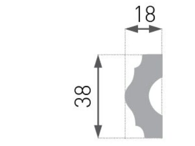 E-18 Vegglist 18x38mm.
