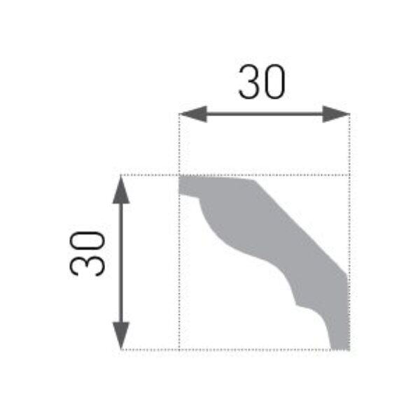 E-04 Taklist 30x30mm.
