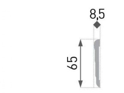 HD-2  Dør og vindu list (gulvlist) 2200x8,5x65mm INTERO kollesjon.
