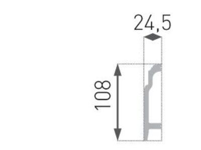 Gulvlist hard HF-1. 24,5x108mm INTERO kolleksjon.