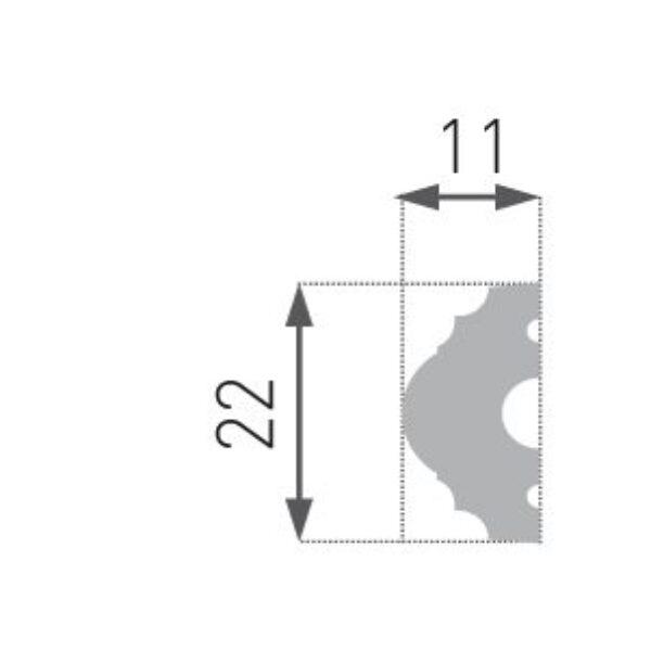 HW-1 Hard list 11x22mm INTERO kolleksjon