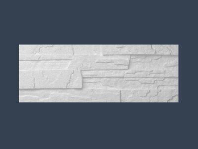 Stein dekor II. (grov) Hvit 485x180x25mm