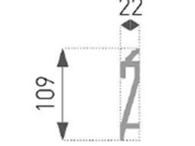 Gulvlist og lyslist, 2 i 1,  HF-3,  22x109mm.