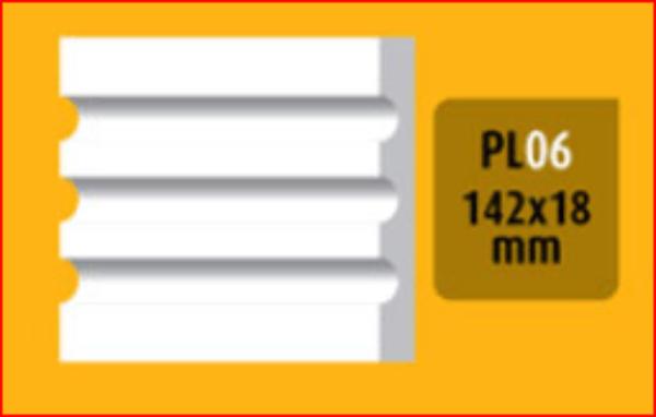 Bøyelig list PL-06-H  /142x18mm/