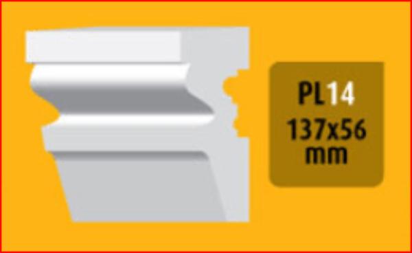 Bøyelig list PL-14-H /137x56mm/.