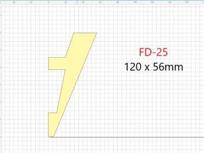 Lyslist, FD-25 /56x120mm/