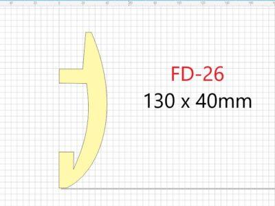 Lyslist, FD-26 /40x130mm/